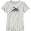 Patagonia W's Isle Wild Flying Fish Cotton Crew T-Shirt White
